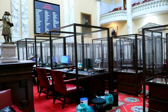Precautions have been taken at the Maryland Senate to help protect lawmakers from COVID-19 when they gather Wednesday in Annapolis to begin the state's annual 90-day legislative session.