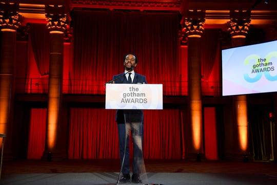 Andre Holland at the audience-less Gotham Awards Monday at Cipriani Wall Street in New York.