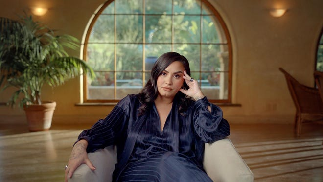 """Pop singer Demi Lovato opens up about her struggles with addiction in the documentary series """"Demi Lovato: Dancing With the Devil."""""""