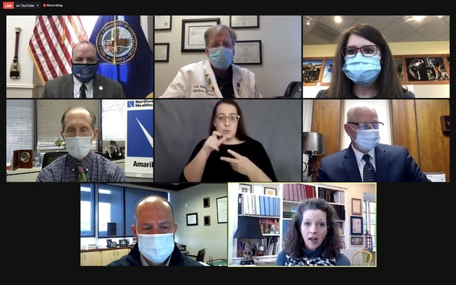 Participants in Wednesday's COVID-19 news conference, hosted every week by the city of Amarillo's public health department