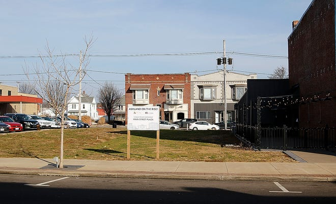 The site of the future Main Street Plaza next to Ohio FIre on East Main Street is seen here on Wednesday. TOM E. PUSKAR/TIMES-GAZETTE.COM