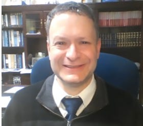 Rabbi Aaron Gaber of Congregation Brothers of Israel, in Newtown.