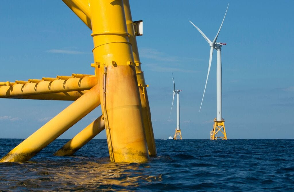 Deepwater Wind, based in Providence, Rhode Island, built a five-turbine wind farm off the Rhode Island coast in 2016. The turbines generate 30 megawatts of power and are part of the only offshore wind farm in the U.S. President-elect Joe Biden's climate change plan includes a reliance on wind and other renewable energy.