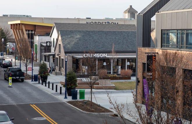 """Several new tenants are heading to Easton Town Center, following other tenants to open earlier this year around the """"Yard"""" section in Easton's northern portion, shown here."""