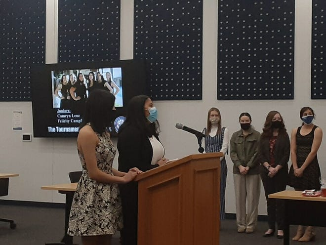 The board of education heard a Tournament of Champions presentation from the Dodge City High School TOC Committee.