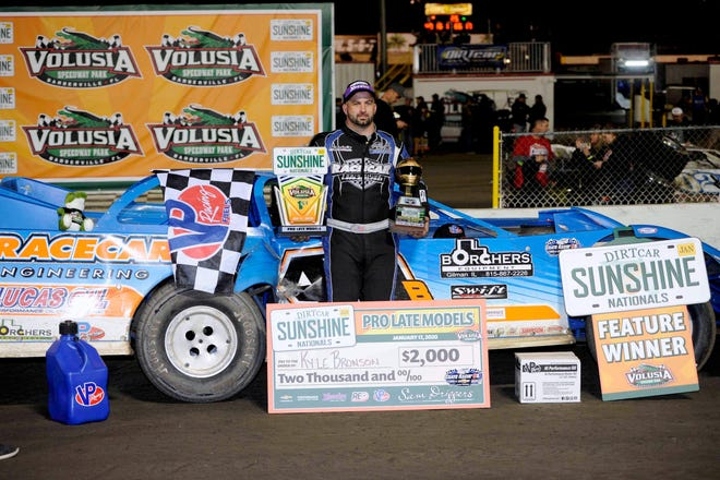 Kyle Bronson is back to defend his crown at Volusia Speedway Park.