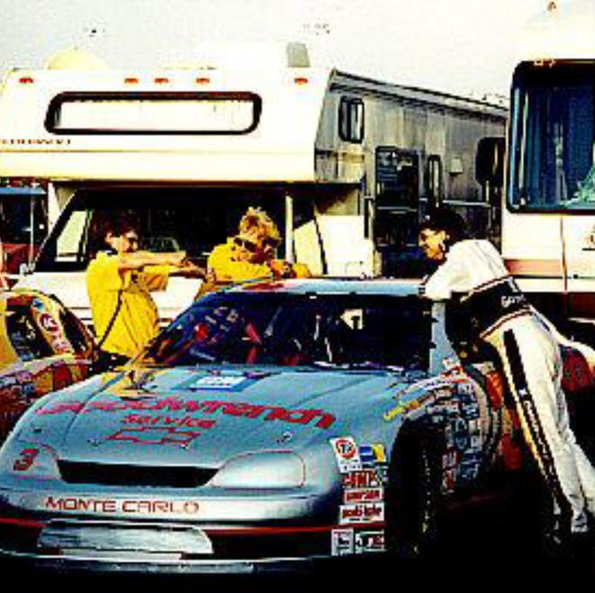 Barbara Roush of Port Orange took this photo of Dale Earnhardt, right, Sterling Marlin and Tony Glover in 1995 at the All-Star race at Charlotte Motor Speedway.