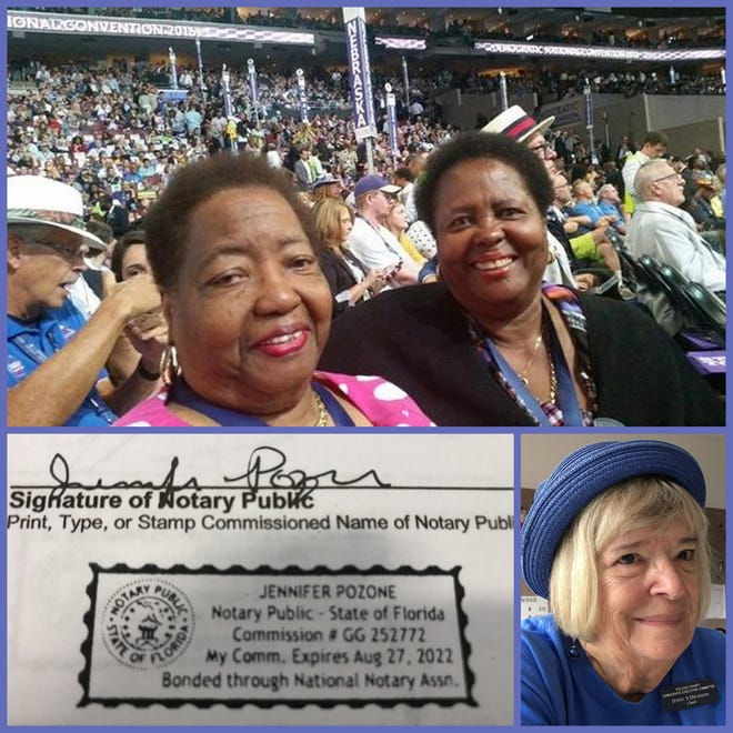 Democrats, clockwise from left, Joan Lane, Joyce Cusack and Jewel Dickson are appealing a recent Volusia County party reorganization based, in part, on what they say were candidate oaths that should be ruled invalid because of improper notarizations. Some 62 Democrats who voted had forms notarized online by Jennifer Pozone, who is not certified by Florida to make online notarizations.