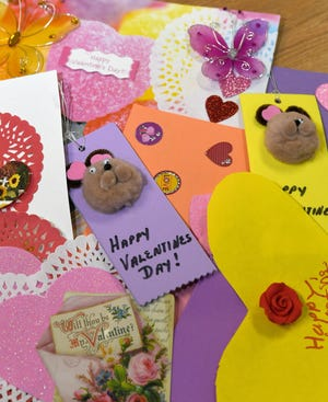 Shown are some of the homemade valentines delivered to residents at the Pennsylvania Soldiers' & Sailors' Home in Erie on Feb. 14, 2019, as part of WCTL-FM's annual Healing Hearts Valentine's Day Project. The Christian radio station is again collecting valentines to deliver to Erie-area nursing homes and other agencies.
