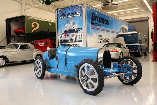 This 1925 Bugatti is one of two rare vintage vehicles on display at the Brumos Collection. The museum reopened to the public this week after COVID-19 forced it to close for several months.