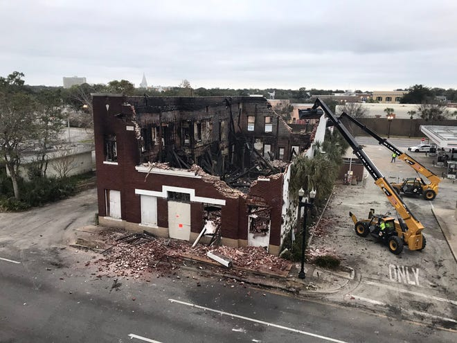 Demolition of the former Moulton and Kyle Funeral Home