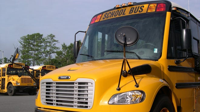 Clay County school buses.