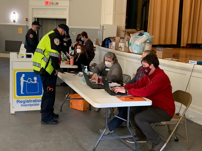 A COVID-19 vaccination clinic for first responders was held at Gardner City Hall on Jan. 13.