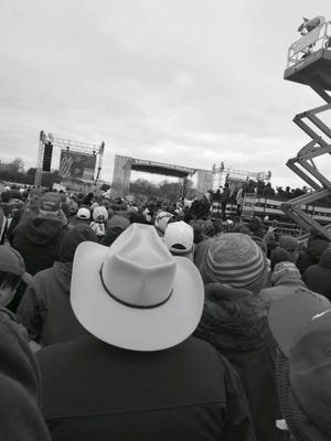 "Photo taken by Hill Correctional Officer Lee Gabbert at the Jan. 6 ""Save America"" rally in Washington D.C."