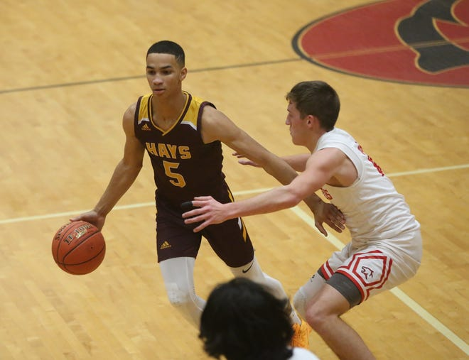 T.J. Nunnery scored 10 points in Hays High's 51-24 win at Great Bend.