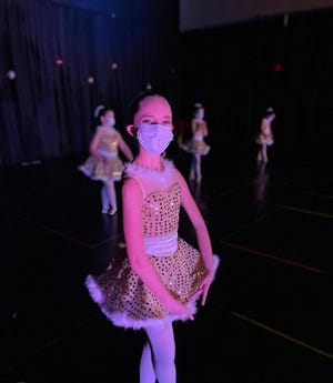 The  Junior Ballet class of the Hudson Conservatory of Ballet dancers prepared a holiday performance.