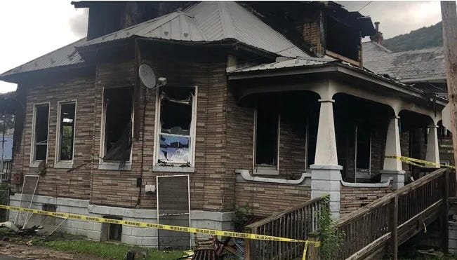 This home at the corner of Third and Davis streets was the subject of an arson investigation last year that resulted in the indictment of Neil David Lambka by a Mineral County Grand Jury Tuesday.