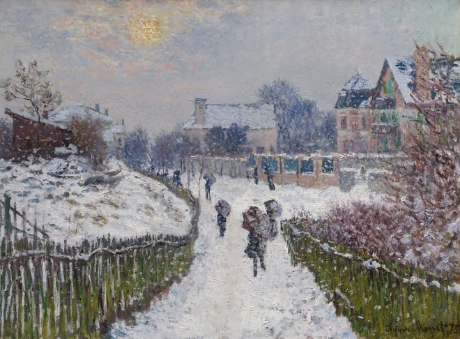Boulevard Saint-Denis, Argenteuil, in Winter