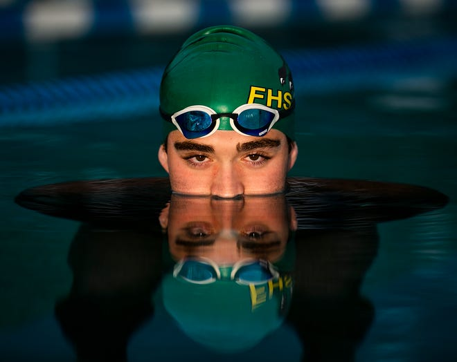 Forest's Riley Sampson is this year's Ocala Star-Banner Boys Swimmer of the Year.