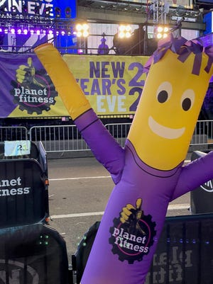 The COVID-19 pandemic gave the annual Dick Clark's New Year's Rockin' Eve a different look on Dec. 31 for Planet Fitness, which relied on blow-ups as part of its sponsorship of the ball drop event.