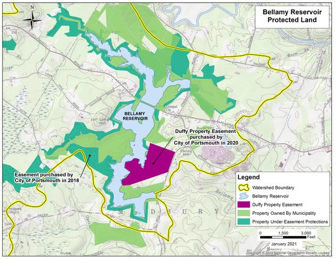 Conservation of the Duffy Property Easement adjacent to the Bellamy Reservoir helps protect the drinking water supply for Portsmouth and the other communities served by the Portsmouth Water Division.