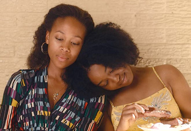 """Former beauty queen Turquoise (Nicole Beharie, left) cultivates her daughter, Kai (Alexis Chikaeze), to become """"Miss Juneteenth,"""" even if Kai wants something else."""