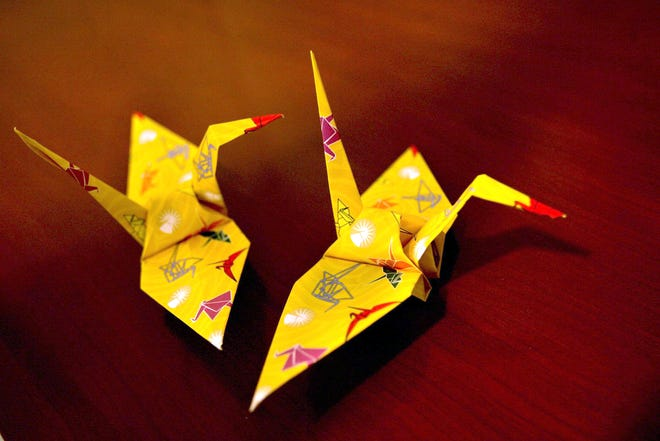 "On Zoom, ""The History of the 1000 Paper Cranes"" presentation via the Cumberland Public Library, takes place Saturday,  Jan. 16."