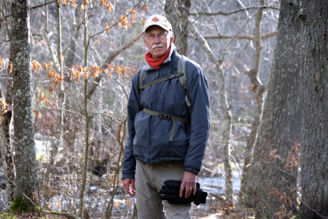 Former Journal editor John Kostrzewa at Stepstone Falls in West Greenwich. His new column will let you follow in his footsteps as he introduces places to hike and de-stress amid the pandemic.