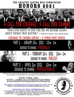 "Flyer for the ""Courage to Change"" virtual series"