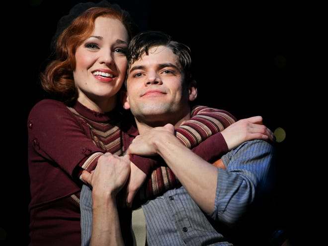 """Two-time Tony nominee Laura Osnes, left, seen with Jeremy Jordan in """"Bonnie and Clyde"""" in 2011, will return to Asolo Repertory Theatre for a concert program Feb. 5 and 6."""
