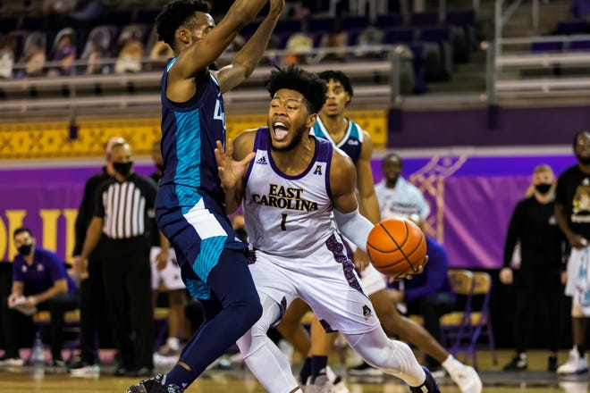 East Carolina's Jayden Gardner against UNCW.