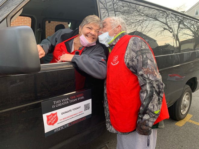 Jo-Ann Lessa seen here volunteering with the Salvation Army New Bedford.