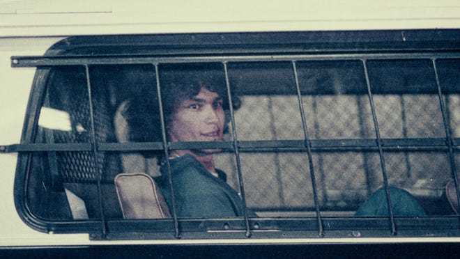 "Richard Ramirez (The Night Stalker) in episode 4 of ""Night Stalker: The Hunt for a Serial Killer."""
