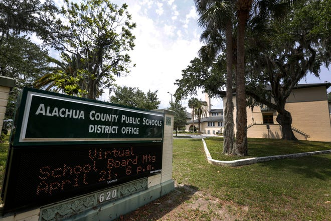 The Alachua County Public Schools building in Gainesville is seen in this April file photo.