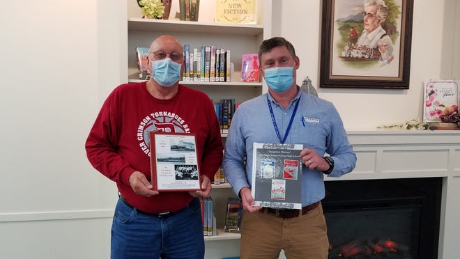 The Dover Public Library will host Jim Wherley, a researcher of local history, at 6:30 p.m Jan. 28 via Zoom. Pictured, from left: Jim Wherley and Jim Gill.