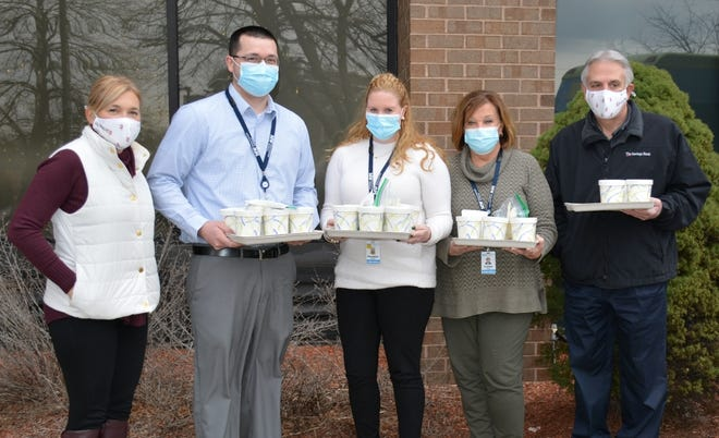 """The Savings Bank provides """"Warmth of Giving"""" to MelroseWakefield Hospital."""