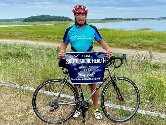Matthew DeLuca, a cyclist for Team South Shore Health, will ride in the 2021 Pan-Mass Challenge.