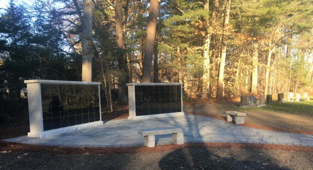 The Norwell Cemetery Committee recently announced the completed construction of a new 32-niche columbarium at the Washington Street Cemetery in Norwell.