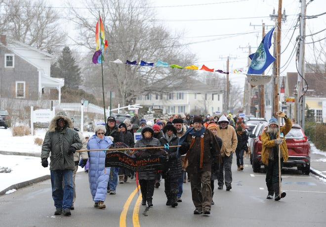 Last year's WalKING meditation in Wellfleet on Martin Luther King Jr. Day. This year's event is an individual event due to the threat of COVID-19.