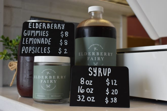 The Elderberry Fairy sells a variety of products made with elderberries sourced from Ukraine and Poland.