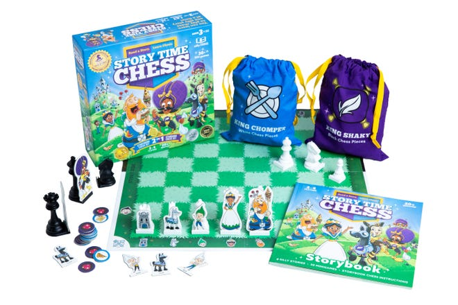 Story Time Chess by Chess at Three is up for game of the year for 2021 from the Toy Association. The company's chief operating officer is Harlan Alford, a Coshocton native who learned chess from his grandfather, Norm Wright.