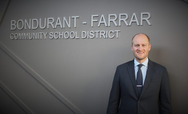 On January 11 the district's Board of Education approved the selection of Jeremiah Ostrem as principal of the new Bondurant-Farrar Junior High. Ostrem is currently serving as the assistant principal at the district's high school, a position he has held since 2017.