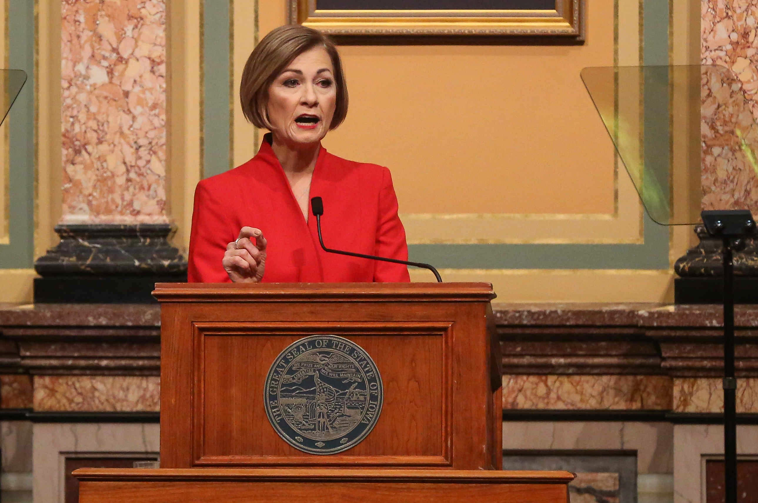 Iowa Gov. Kim Reynolds unveils schooling, tax policy changes for 2021
