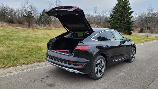 The 2020 Audi e-tron Sportback has a more coupe-like roof than the standard e-tron - but the same hatchback utility.