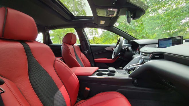 Opt for the A-Spec package and the 2021 Acura TLX gains a luscious red interior.