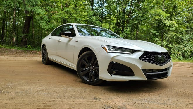 The 2021 Acura TLX is all-new with 50% stiffer chassis, 272-horse turbo-4 engine, double-wishbone front suspension, and sculpted styling.