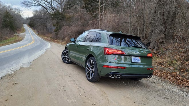 The 2021 Audi SQ5 is playful in the twisties for an SUV with its powerful engine and taut suspension.