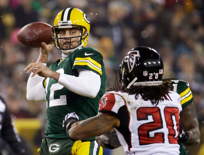 Green Bay quarterback Aaron Rodgers will square off against another future NFL Hall of Famer, Tampa Bay quarterback Tom Brady, in Sunday's NFC championship game.