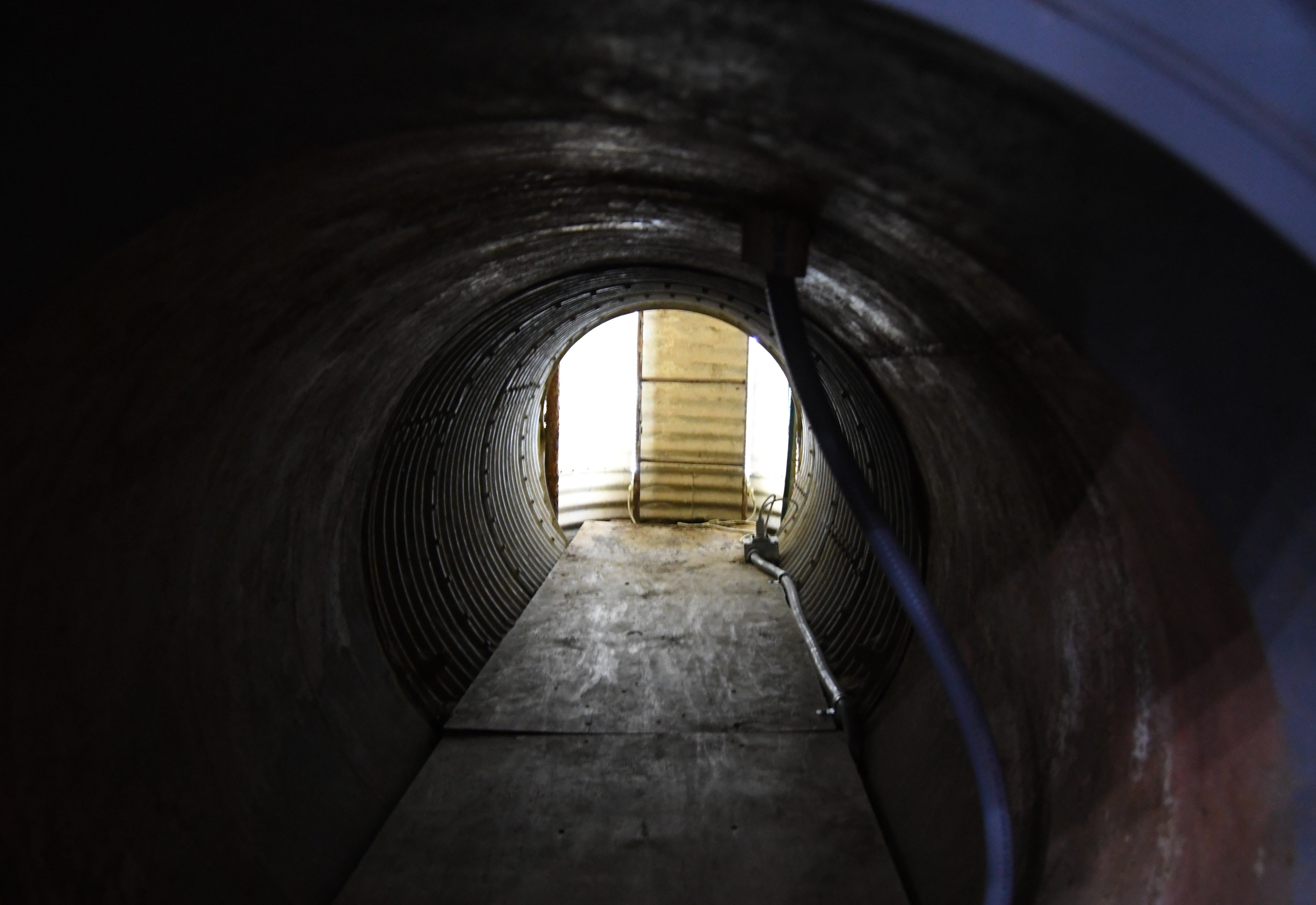 This 10-foot tunnel leads to a 50-foot ladder that more adventurous souls may use to exit the Titan Ranch underground facility near Vilonia.