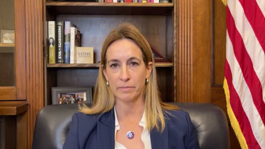 """In this excerpt from a live social media video, Rep. Mikie Sherrill claims some members of Congress led groups of people through the Capitol Building on a """"reconnaissance"""" tour a day before the riots."""